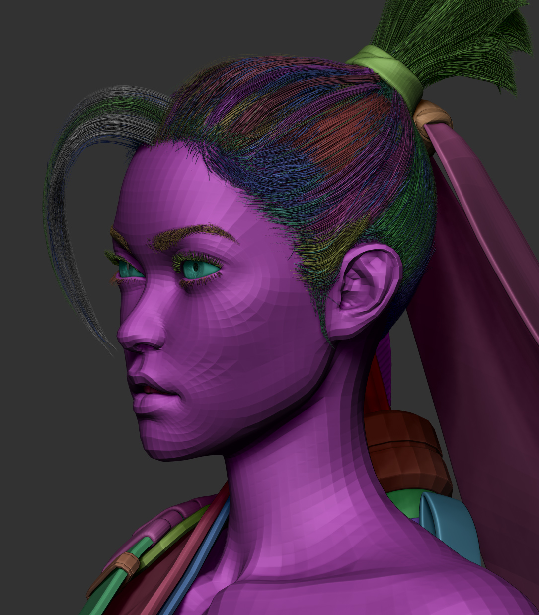 zbrush fibermesh hair jhill
