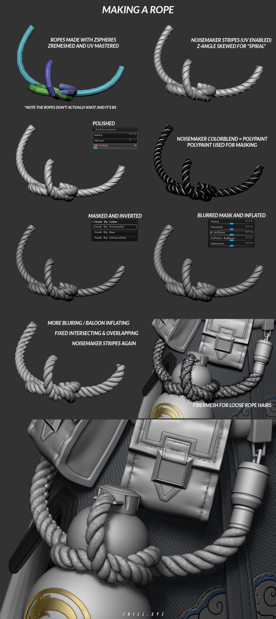 making a rope in zbrush